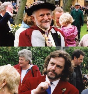Prof. Stanley Wells (top) and Gregory Doran (below) (Photography by Malcolm Davies, copyright Shakespeare Birthplace Trust)